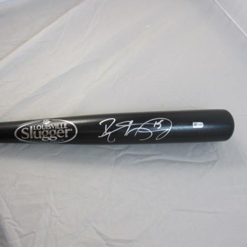 Photo of Brett Lawrie Autographed Black Louisville Slugger Bat