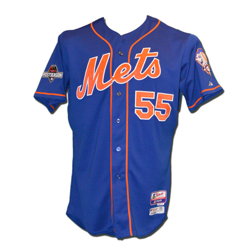 Photo of Kelly Johnson #55 - MLB Authenticated Team Issued 2015 Postseason Jersey - 2015 Postseason Patch on Right Sleeve