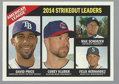 Photo of 2015 Topps Heritage #226 Felix Hernandez/Max Scherzer/Corey Kluber/David Price