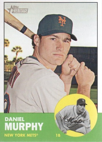 Photo of 2012 Topps Heritage #78 Daniel Murphy