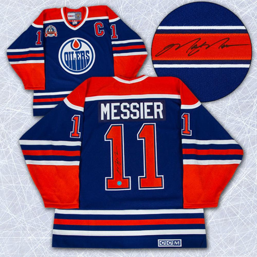 Mark Messier Edmonton Oilers Autographed 1990 Stanley Cup Retro CCM Jersey