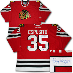 Tony Esposito Autographed Chicago Blackhawks Jersey