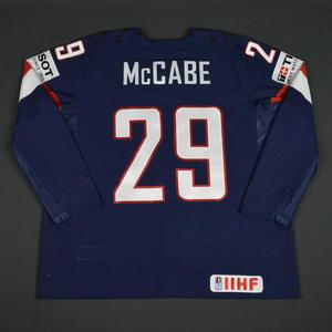Jake McCabe - 2016 U.S. IIHF World Championship - Game-Worn Jersey