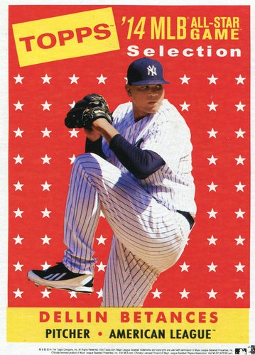 Photo of 2014 Topps 5x7 All-Star Selection Dellin Betances -- Part of exclusive Minneapolis FanFest set