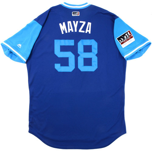 "Photo of Tim ""Mayza"" Mayza Toronto Blue Jays Game-Used Players Weekend Jersey"