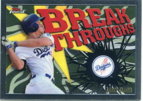 Photo of 2017 Finest Breakthroughs #FBCS Corey Seager -- Dodgers post-season