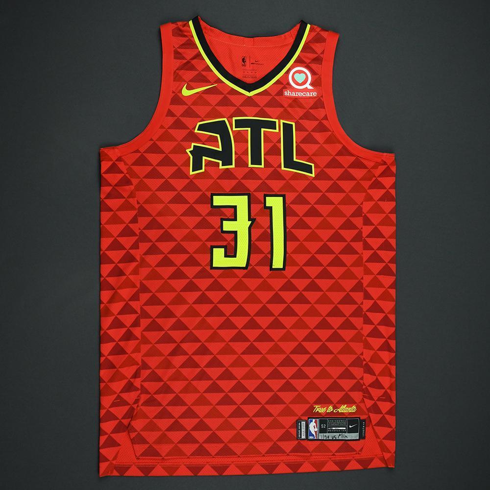 Mike Muscala - Atlanta Hawks - Statement Game-Worn Jersey  - 2017-18 Season