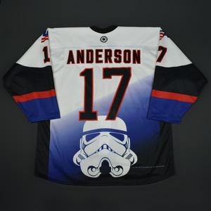 Joey Anderson - 2016 U.S. National Under-18 Development Team - Star Wars Night Game-Worn Jersey w/A