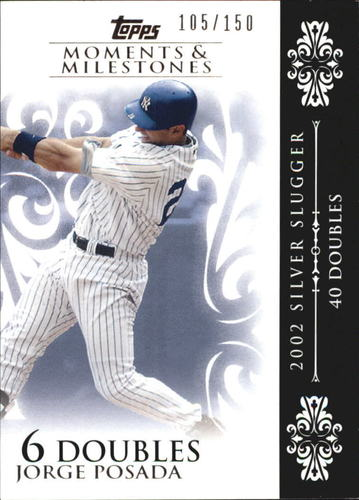 Photo of 2008 Topps Moments and Milestones #65-6 Jorge Posada