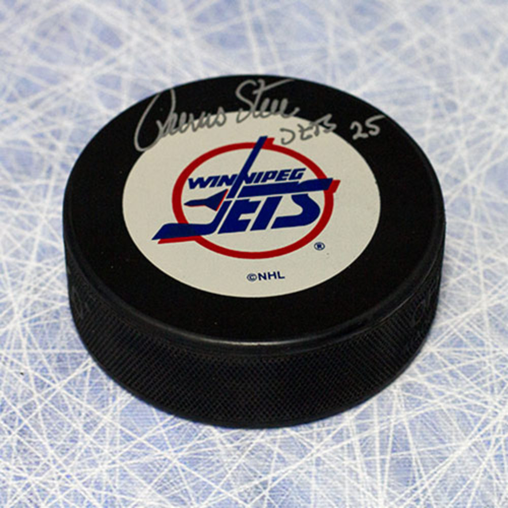 Thomas Steen Winnipeg Jets Autographed Hockey Puck