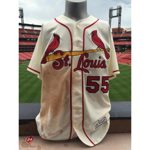Photo of Cardinals Authentics: Stephen Piscotty Game Worn Saturday Alternate Jersey