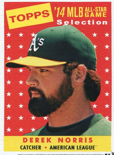 Photo of 2014 Topps 5x7 All-Star Selection Derek Norris -- Part of exclusive Minneapolis FanFest set
