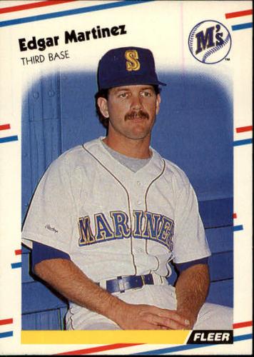 Photo of 1988 Fleer #378 Edgar Martinez -- Seattle Mariners rookie card