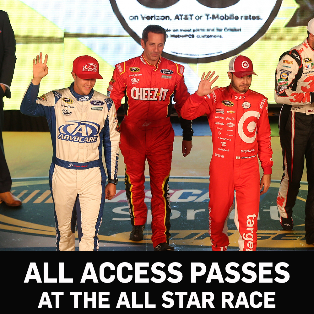 All Access NASCAR Garage Passes for the All-Star Race -benefitting the Paralyzed Veterans of America!