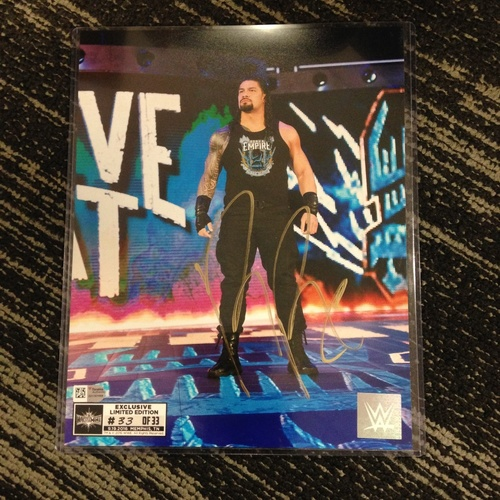 Photo of Roman Reigns SIGNED 8 x 10 Limited Edition WrestleMania 33 Photo (#33 of 33)