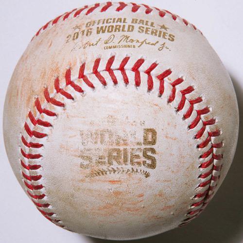 Photo of 2016 World Series Game 7: Batter - Francisco Lindor, Pitcher - Kyle Hendricks, Bottom of 1st, E4