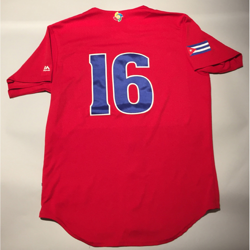 2017 WBC: Cuba Game-Used Batting Practice Jersey, #16