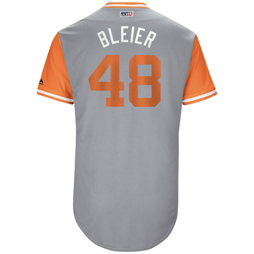 "Photo of Richard ""Bleier"" Bleier Baltimore Orioles Game-Used Players Weekend Jersey"