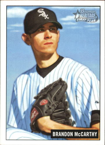 Photo of 2005 Bowman Heritage #222 Brandon McCarthy Rookie Card -- Dodgers post-season