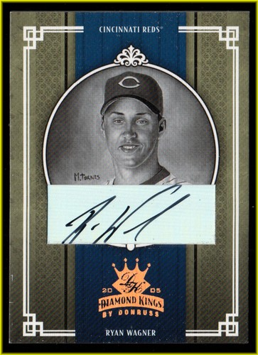 Photo of 2005 Diamond Kings Signature Bronze B/W #73 Ryan Wagner/100
