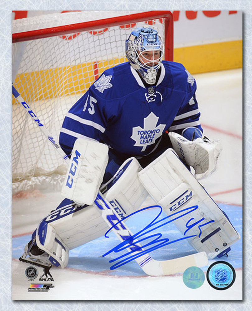 Jonathan Bernier Toronto Maple Leafs Autographed Goalie 8x10 Photo