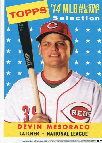 Photo of 2014 Topps 5x7 All-Star Selection Devin Mesoraco -- Part of exclusive Minneapolis FanFest set