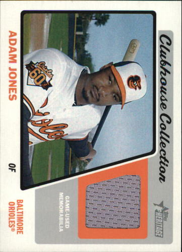 Photo of 2015 Topps Heritage Clubhouse Collection Relics #CCRAJ Adam Jones