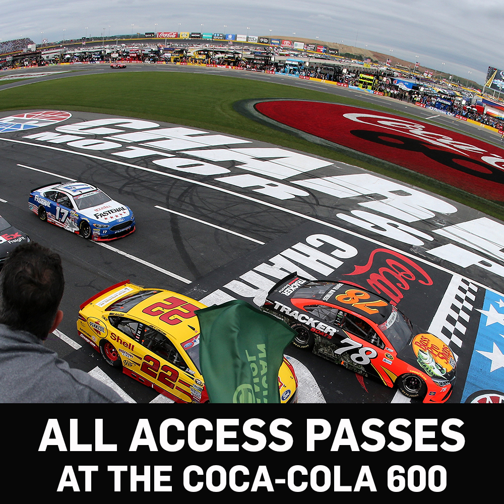 All Access NASCAR Garage Passes for the Coca-Cola 600!