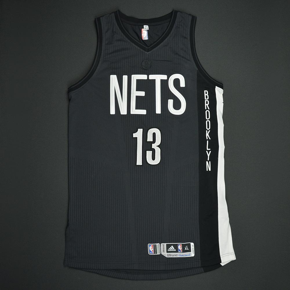 Quincy Acy - Brooklyn Nets - Game-Issued Black Alternate Jersey - 2016-17 Season