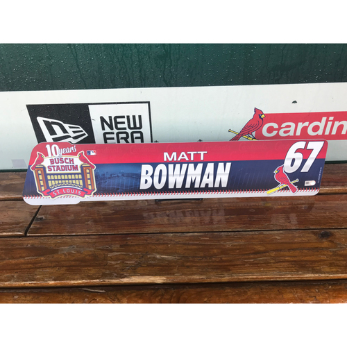 Cardinals Authentics: Matt Bowman Locker tag