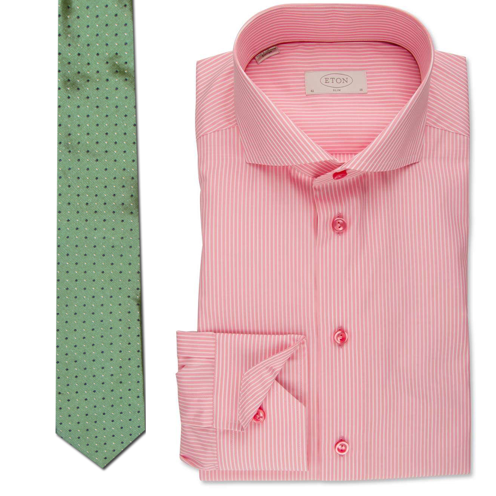 Eton Men's Shirt & Tie