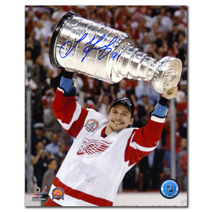 Sergei Fedorov Detroit Red Wings 2002 Stanley Cup Autographed 8x10