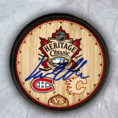 LARS ELLER Montreal Canadiens SIGNED 2001 Heritage Classic Puck