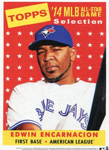 Photo of 2014 Topps 5x7 All-Star Selection Edwin Encarnacion -- Part of exclusive Minneapolis FanFest set