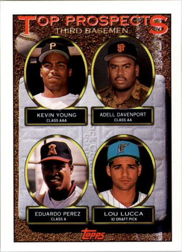Photo of 1993 Topps #494 Kevin Young/Adell Davenport/Eduardo Perez/Lou Lucca RC