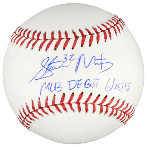 Steven Matz New York Mets Autographed Baseball with MLB Debut 6-28-15 Inscription