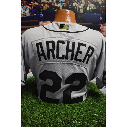 Photo of 2017 Memorial Day Game-Used Jersey: Chris Archer