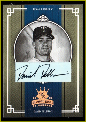Photo of 2005 Diamond Kings Signature Bronze B/W #236 David Dellucci/100