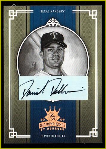 Photo of 2005 Diamond Kings Signature Bronze B/W #236 David Dellucci/100