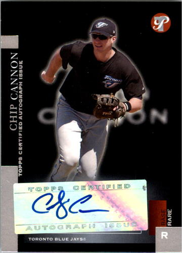 Photo of 2005 Topps Pristine #181 Chip Cannon FY AU RC