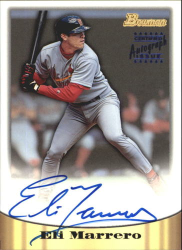 Photo of 1998 Bowman Certified Blue Autographs #19 Eli Marrero