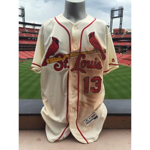 Photo of Cardinals Authentics: Matt Carpenter Game Worn Saturday Alternate Jersey