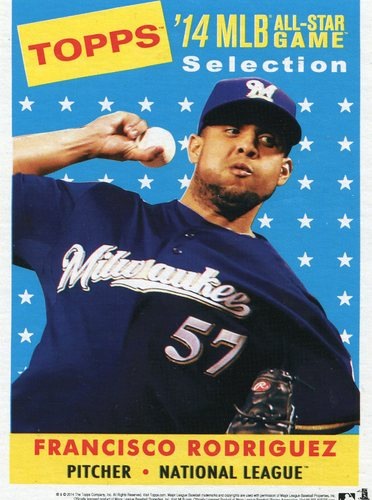 Photo of 2014 Topps 5x7 All-Star Selection Francisco Rodriguez -- Part of exclusive Minneapolis FanFest set