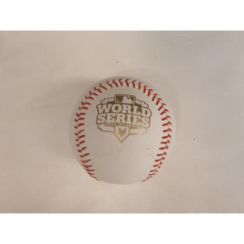 Photo of Faded Anibal Sanchez Autographed 2012 World Series Ball