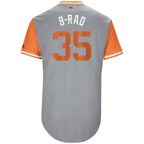 "Photo of Brad ""B-Rad"" Brach Baltimore Orioles Game-Used Players Weekend Jersey"