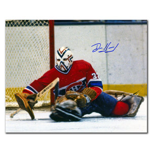 Denis Herron Montreal Canadiens BIG SAVE Autographed 8x10