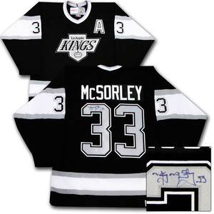 Marty McSorley Autographed Los Angeles Kings Jersey