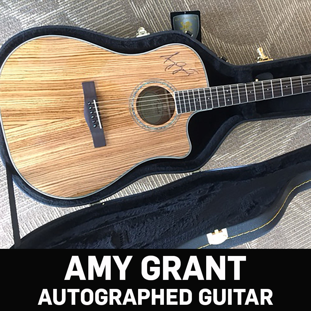 Fender acoustic guitar signed by Grammy Award winner Amy Grant!