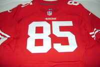 49ERS - VERNON DAVIS SIGNED AUTHENTIC 49ERS JERSEY - SIZE 48