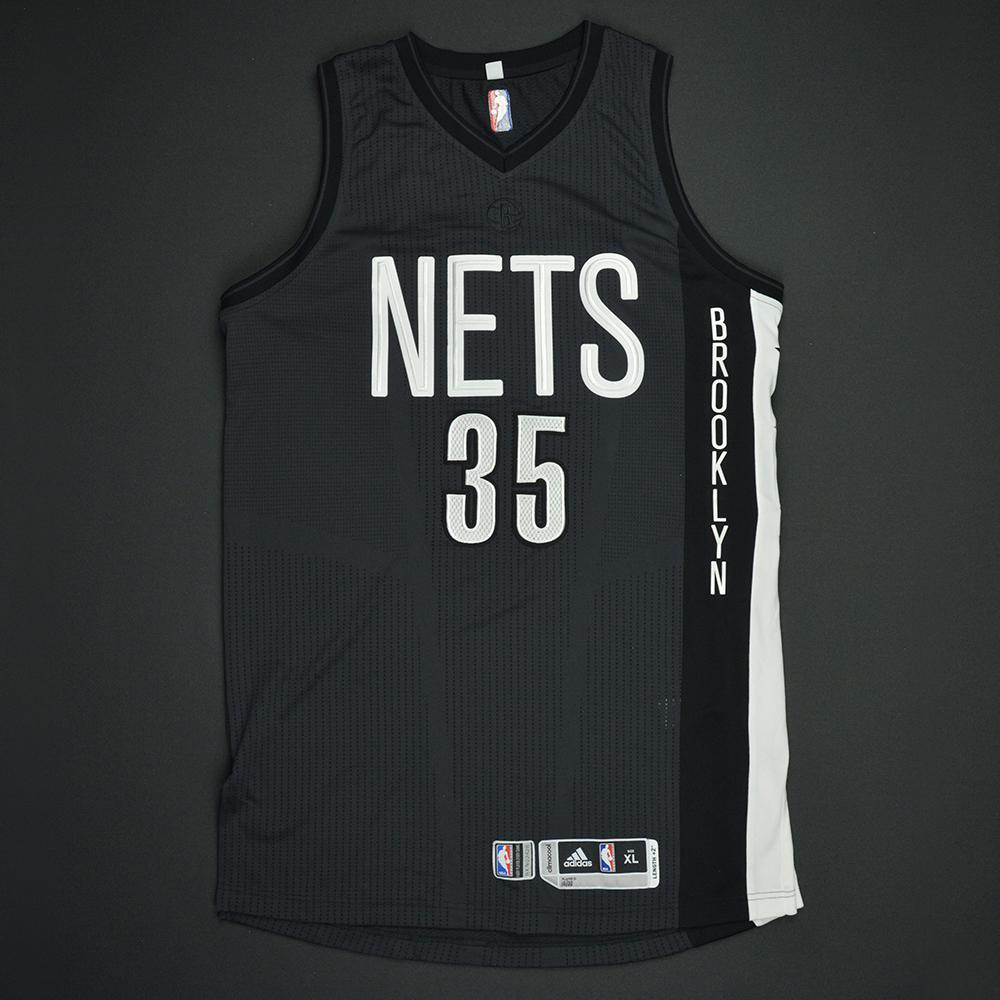 Trevor Booker - Brooklyn Nets - Game-Issued Black Alternate Jersey - 2016-17 Season